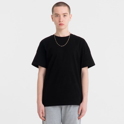 오버핏 드랍숄더 티셔츠_블랙_JBT00027-4