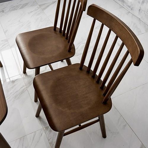 [데코마인] 시드 고무나무원목 윈저체어 식탁의자 원목의자