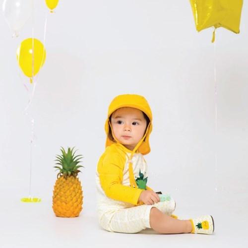 쿵스쿵스UV플랩캡(메리옐로우) 유아플랩캡 아동수영모 썬햇