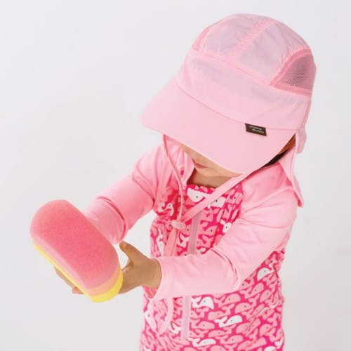 쿵스쿵스UV플랩캡(캔디핑크) 유아플랩캡 아동수영모 썬햇