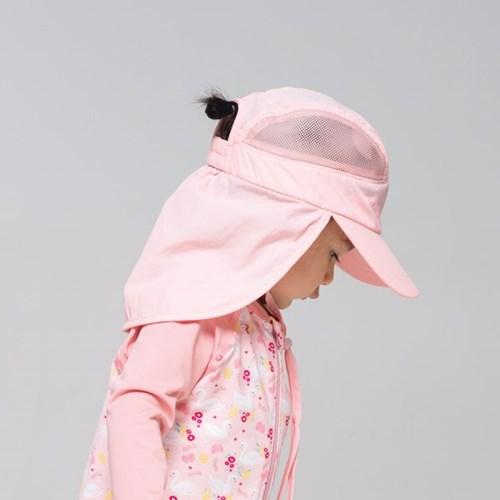 쿵스쿵스UV플랩캡(피치핑크) 유아플랩캡 아동수영모 썬햇