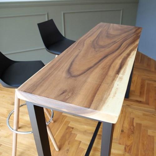 라센 보루네오 우드슬랩 통원목 바 테이블 1500_(774144)