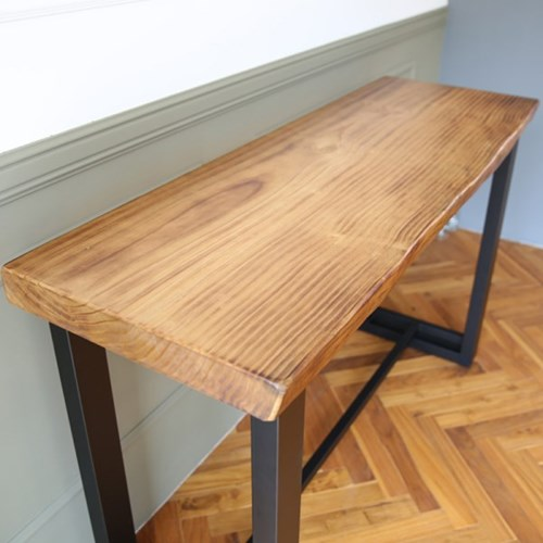 라센 뉴송 우드슬랩 통원목 바 테이블 1500_(774142)