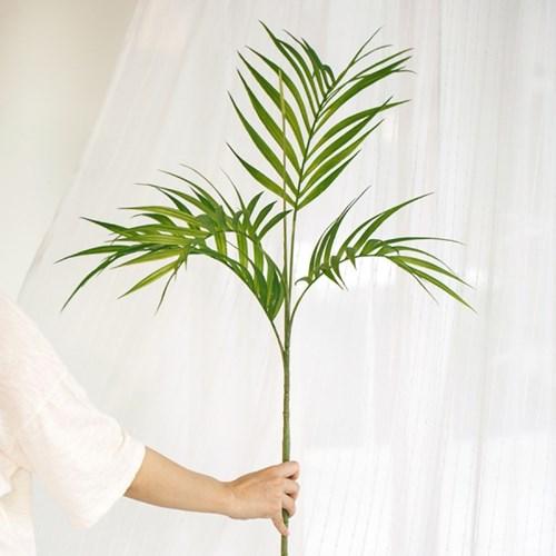 길고 잎이 큰 청량한 야자 화병세트 인테리어 조화 실크_(1282818)