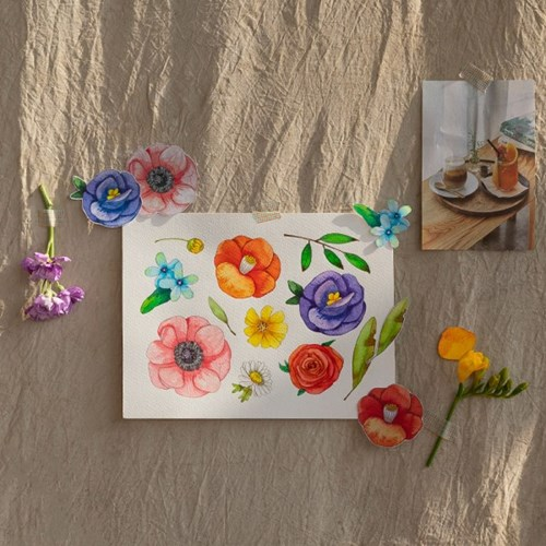 hobbyful 꽃피우는 날 수채화 클래스
