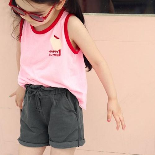 크림한입 아동 나시티셔츠