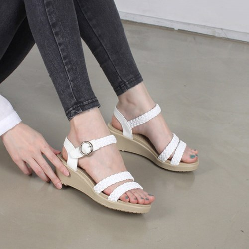 kami et muse Soft middle wedge strap sandals_KM19s231