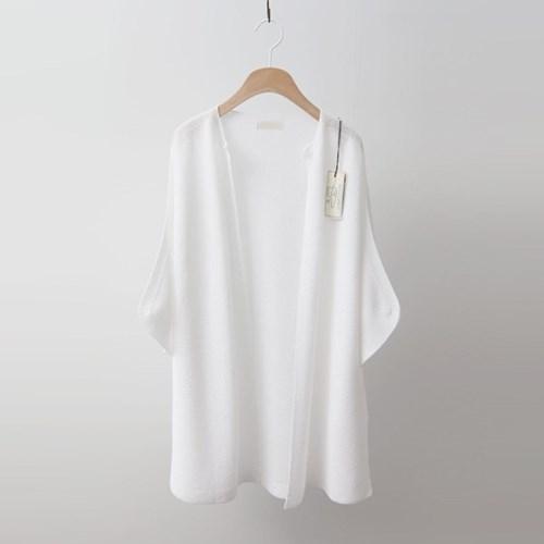 Hoega Linen Open Cardigan - 7부소매