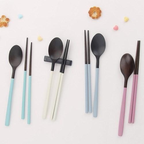 마카롱 천연 옻칠 수저세트 [베이직] 5color