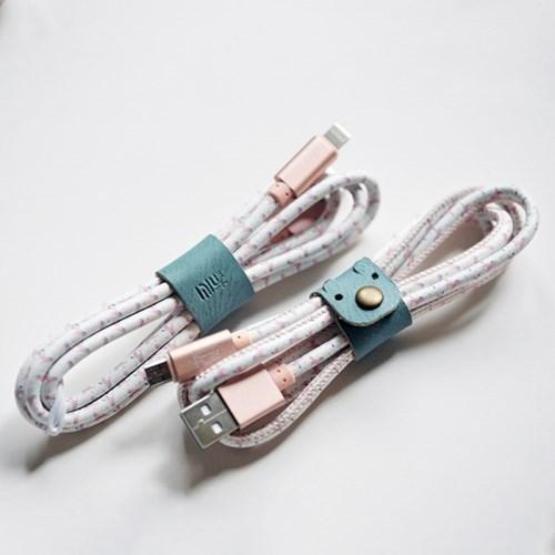 [꿈꾸는 말] 고속 충전 USB케이블 (예쁜 케이스와 클립 포함)