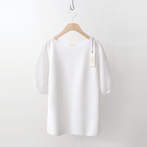 Hoega Linen Puff Knit - 5부소매