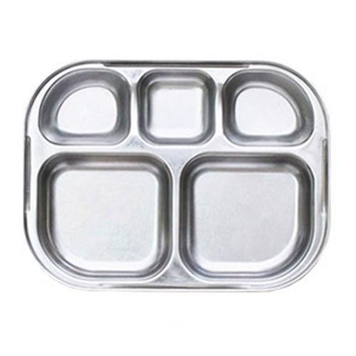 꿀벌대모험 일자형 민트 유아식판 뚜껑+파우치 포함