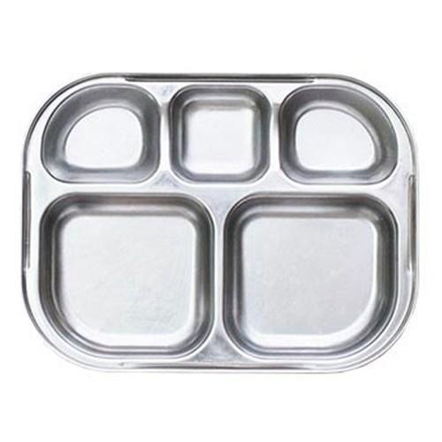 스텐 다이어트 유아 일자 도시락 식판 민트 유아식판