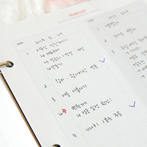 제이밀크 A5초음파앨범(임신다이어리) 리필내지-TO DO LIST SET