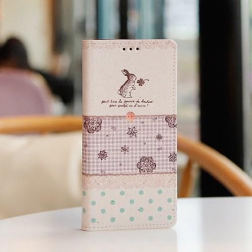 LG X6 2019 (LG X625) Ventosa-Sewing 수제 지갑 다이어리 케이스