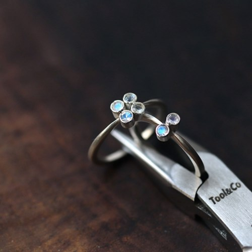 [normaldott] Moon bouquet silver ring | type 1