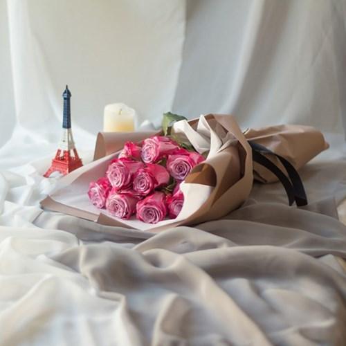핑크 장미 꽃다발