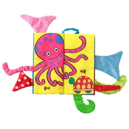 도도코 우리말 꼬리헝겊책 아기 바스락 촉감책 바다동물 꼬리