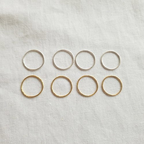 [SET] Band Ring 4qty - Silver925