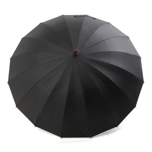 플라우나 초발수 자외선차단 어깨끈 16살대 자동장우산 블랙