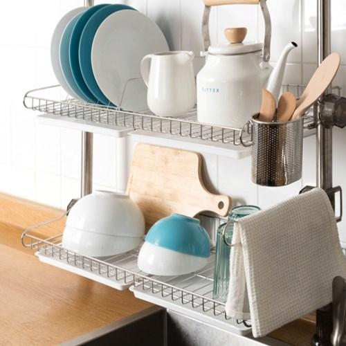 기둥식 식기건조대 씽크대 주방정리선반모음