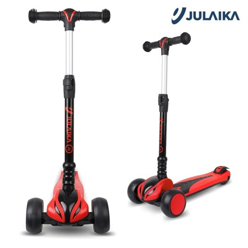 줄라이카 J5 킥보드 유아 어린이 접이식 씽씽카 광폭 LED 바퀴