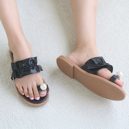kami et muse Pearl point frill flip flop_KM19s331