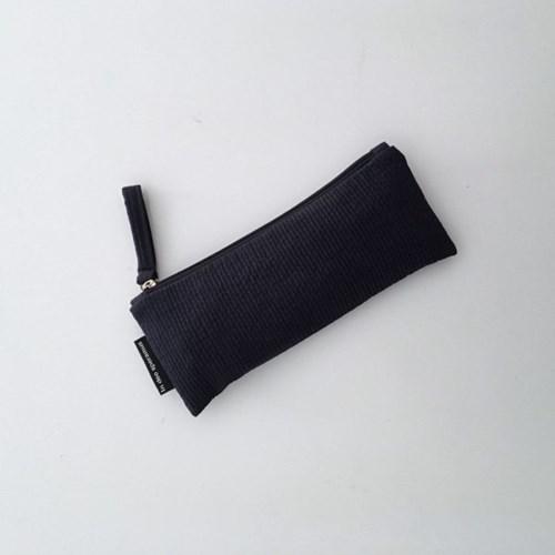 퀼팅 네이비 필통(Quilting navy pencil case)