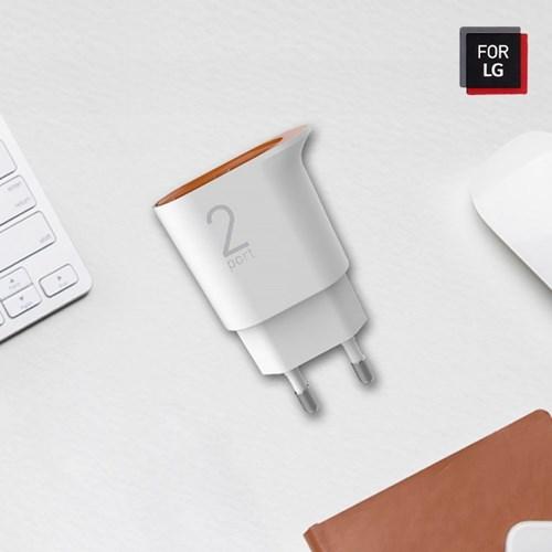 포 LG 멀티 듀얼 핸드폰 USB 충전기_(1182173)