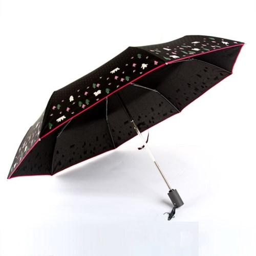 [더로라]기라로쉬 완자 3단 우산 -엣지 베어 돗드 E902