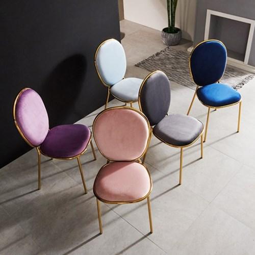 의자 1+1 식탁의자 디자인체어 체어 벨벳의자 철제의자_(2352391)