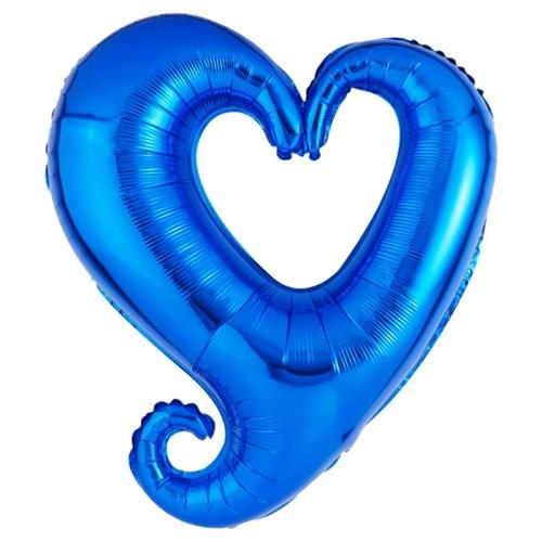 [원팩] 러브은박풍선 하트프레임 블루 86cm_(11786915)