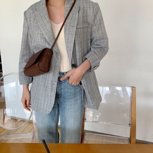 마가렛체크 jacket (2color)