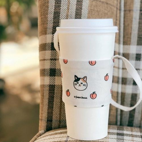 고양이 시바견 상큼과일 드링크백 휴대용컵홀더