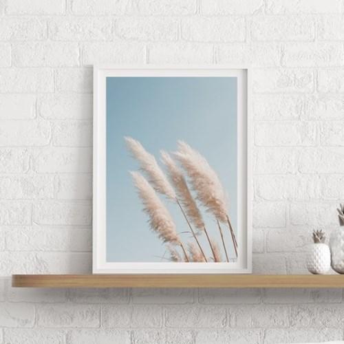 갈대 그림 가을 풍경 사진 인테리어 액자 팜파스