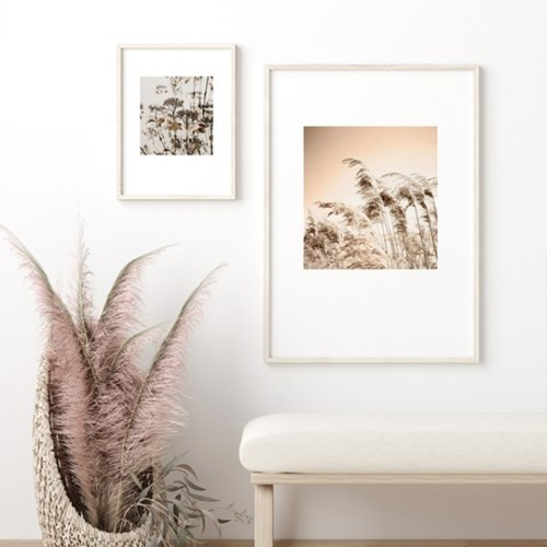 갈대 그림 가을 풍경 사진 인테리어 액자 브론즈
