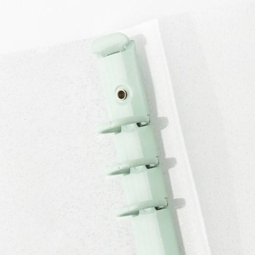 [텐텐문방구] A5 PVC커버 컬러 바인더_투명  (6공 다이어리용/4종)