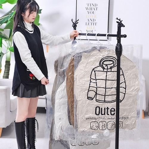 의류수납 위생 방습 옷걸이형 진공 압축팩 Outer ZIP_(1085661)