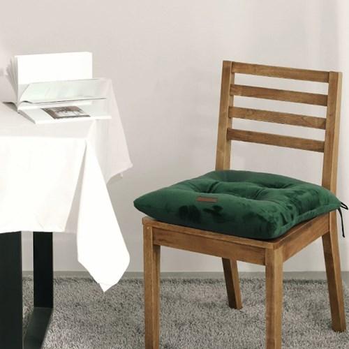 더블 소프트 극세사 볼륨쿠션 끈있는 식탁의자방석