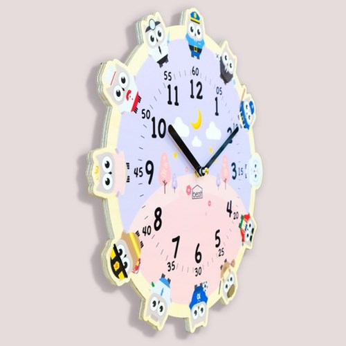 [BEZIT] 원더타임시리즈 부자되는 부엉이의 꿈 무소음 벽시계