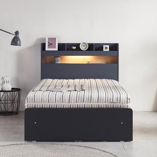 라노체 유럽라텍스 알렉스 /LED/서랍형 침대 퀸