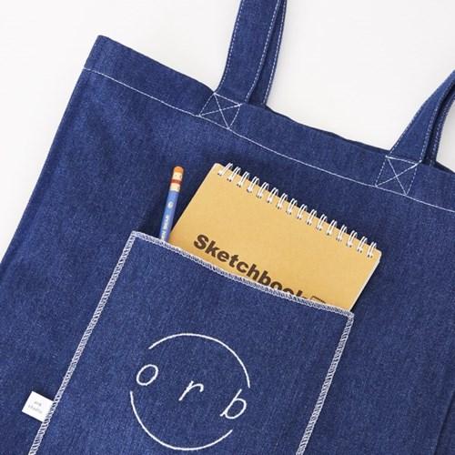 Square Pocket Bag Denim