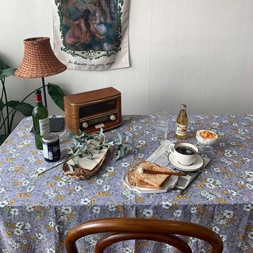 가을들꽃 퍼플 식탁보 테이블보 2size 테이블러너