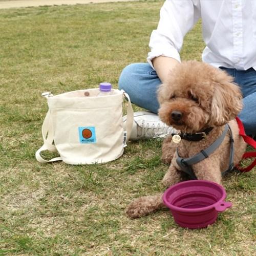 강아지 산책 버킷백 (텀블러백, 에코백, 산책가방)