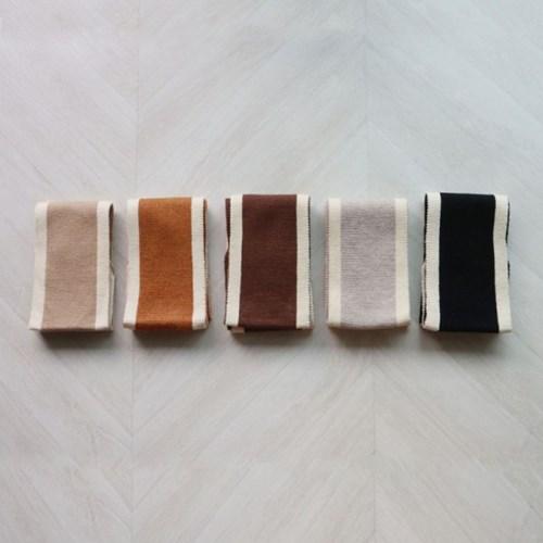 컬러 배색 쁘띠 니트 스카프 (5color)