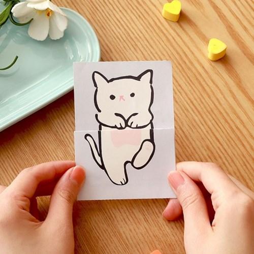 우리집 고양이가 이상해_흰냥이 고양이 편지지
