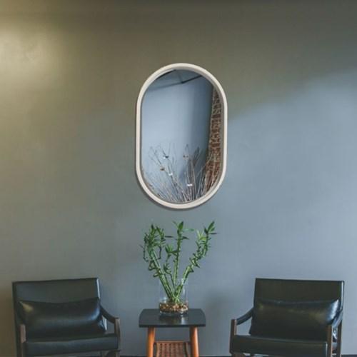 모던 프레임 타원형 거울