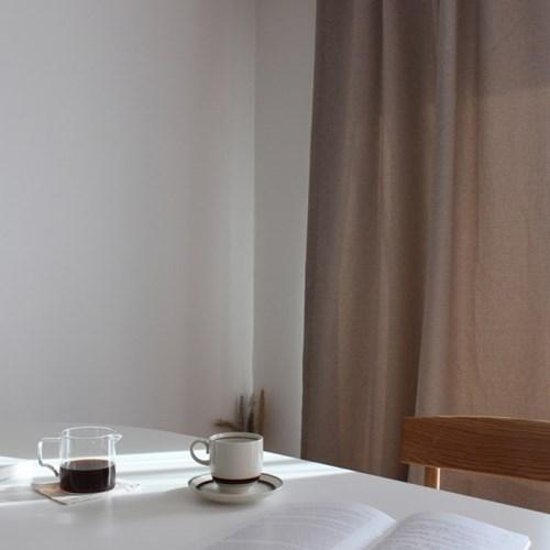 주조밍 내추럴톤 호텔 닮은 라이트베이지 암막커튼