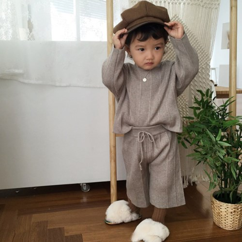 오) 자벨르 니트 아동 상하세트