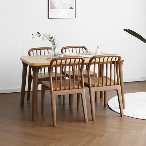 [마들렌] A1형 4인용식탁/테이블 세트 투톤컬러_(1405047)